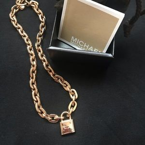 Michael Kors Padlock Necklace Rose
